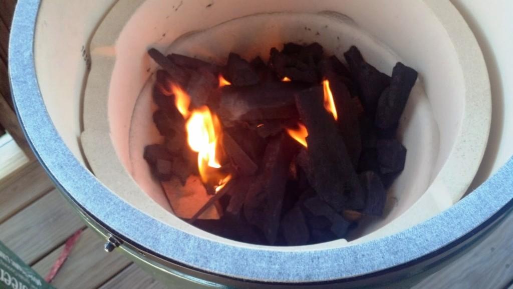 Lighting Charcoal grill coals