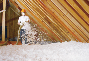 Loose fill insulation blowing