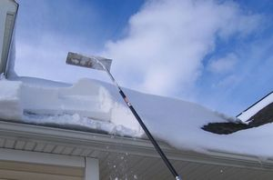 Roof rake snow removal