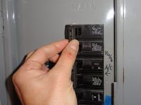 Turn off your power at the circuit breaker