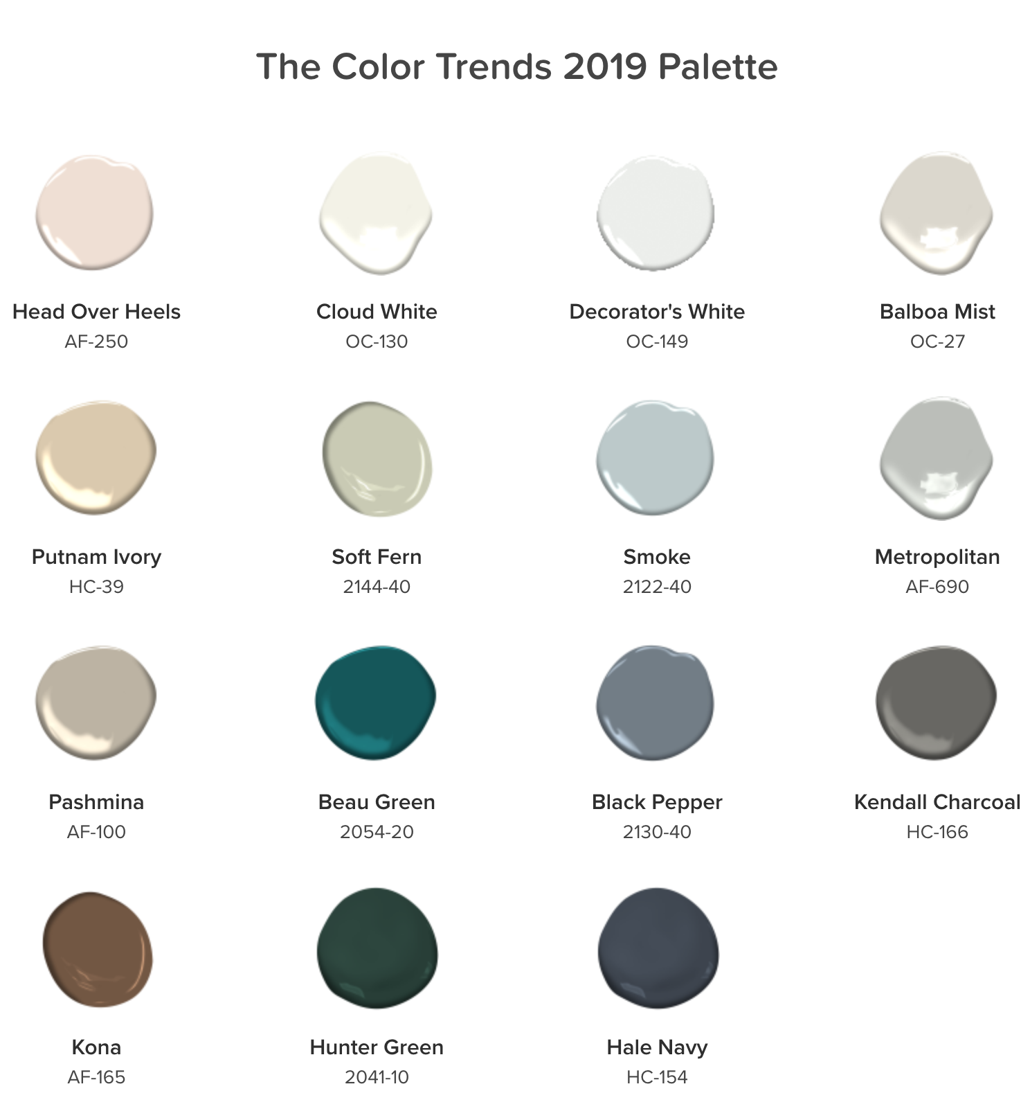 Ben Moore color of the year trends 2019 at koopman lumber