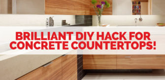 This Brilliant Hack Makes DIY Concrete Countertops SO Easy!