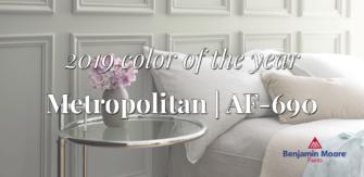 Metropolitan – Benjamin Moore's 2019 Color of the Year