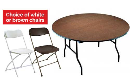 Event Tables and Chairs For Rent