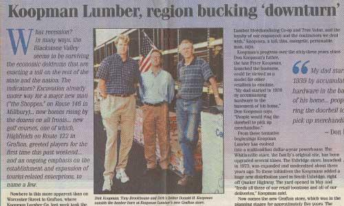Koopman Article about lumber 2002