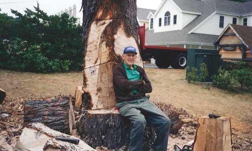 Peter Koopman Leaning on a Tree